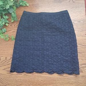 TALBOTS pretty navy skirt!